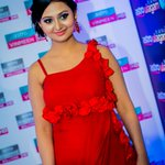 Petite Kannada star @Amulya_moulya dazzled in this red hot gown designed by Suruchi @siima