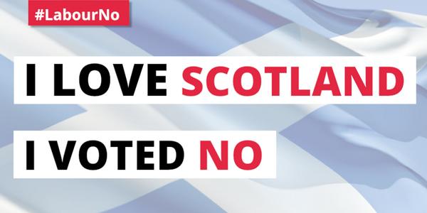 I love Scotland.  I voted No.  #LabourNo #indyref http://t.co/UaYRH46lYR