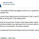 RT @newslaundry: Read @narendramodis entire #BookBucketChallenge here: http://t.co/nwnmAaAAS4 http://t.co/r3xhUh9bzN #newslaundry