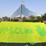 The mosaic Depict the three-finger peace and victory sign of Shaikh Mohammed bin Rashid Al Maktoum, Ruler of #Dubai http://t.co/ZWbMY5izD5