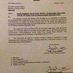 PM expenditure approval letter of $400k for his US trip. #GoNawazGo @PTIofficial @DrAwab @PTIMEDIA @ImranGhazaliPK http://t.co/SJRED9exBb
