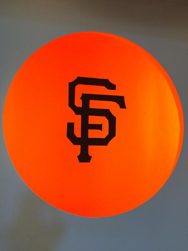 Brightening up our office with the #SFGiants Logo to celebrate #orangeoctober. http://t.co/4oWyktUCsh