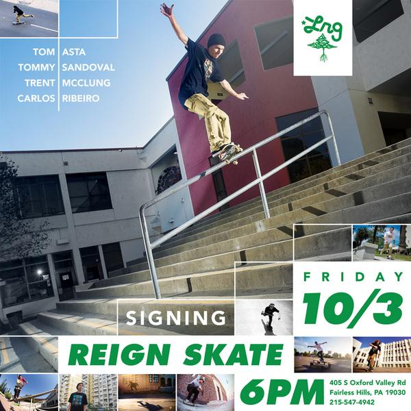 @LRGskate signing tomorrow, Friday 10/3/14 at 6pm. @Tom_Asta http://t.co/E6X0gmRIIY