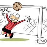 18 ¡Vilar! Nuestro arquero evita el gol de @Club_Queretaro con excelente atajada. http://t.co/qZLZmCzyXR