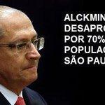 RT @KatytaSV: 70 % dos paulistas reprovam o governo Alckmin. Todos estão cansados de roubos e mentiras do tucano #foraAlckmin http://t.co/tPCQXIv6Rg