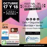 Festival del buen beber, 17 y 18 de Octubre 2014, en Casa de Piedra. @buenbeberfest http://t.co/LDX2VGDm38 #León http://t.co/jUl2MiM18K
