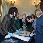 Marie Bashir thrilled us at the official handover of the Carrington albums http://t.co/hXC0MSMMBY. We wish you well! http://t.co/oHDPLvm9YZ