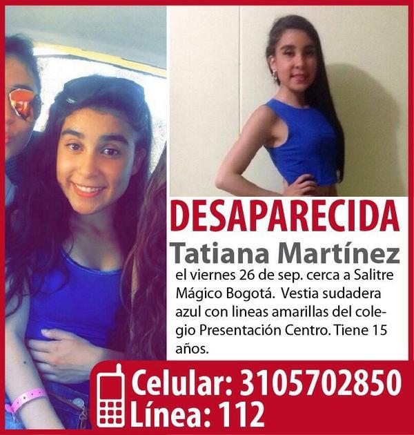 Tatiana Martínez tiene 15 años y desapareció el pasado viernes, comparte la imagen y ayúdanos: #EncontremosaTatiana http://t.co/TLZCf7YxPr