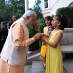 RT @mohitfreedom: PM of #India greeted by children on his visit to the Embassy #ModiInAmerica #ModiMeetsObama http://t.co/cXdfvHkPxG