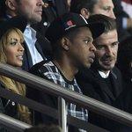 Beyonce, Jay-Z, Beckham. Pluie de stars au Parc. #PSG #PSGFCB #Beyonce #beckham #JayZ http://t.co/T4EP9VhQ1W