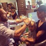 Thank u to daddy's amaze stylist @ethomas26 at @mechesalonla 4 giving @dukerancic a rad haircut:)  #likefatherlikeson