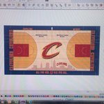 Here is a full view of the new Cleveland Cavaliers court. #Cavs http://t.co/N4bSnAQT4r