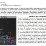 #BoletínMeteorológico Vespertino; 30 de Septiembre de 2014 @NoemiGuzmanSPC http://t.co/uZ4R3rBZBz