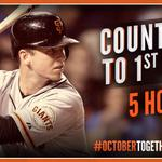RT @SFGiants: Countdown 5 Hours #SFGiants #OrangeOctober #OctoberTogether http://t.co/hxoY6ZPLUf