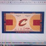 RT @CLESportsSource: @DustinFox37 New #Cavs court! http://t.co/pcfRqdqeny