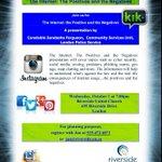 RT @SandashaF: Tomorrow: Internet Safety Presentation for Adults/Parents. Oct 1st, 7pm, Riverside United Church. #ldnont http://t.co/orWAMVW3XU