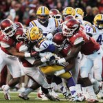 RT @UofCFB: Which school has the better team right now? RT for #Arkansas FAV for #LSU http://t.co/2fcv3a59WQ