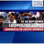 #URGENTE Difieren nuevamente juicio de Leopoldo López: próxima audiencia será el 14 de octubre http://t.co/psa7Kiw52e http://t.co/noeWm9ZfqT