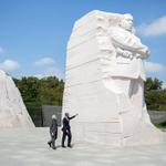 President Obama and Indian Prime Minister Modi visit the Martin Luther King, Jr. memorial: http://t.co/AApe3aX6G9 http://t.co/nvOfeyrfmp