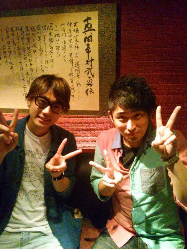 昨日は楽しい夜でした☆ 江口拓也さんと武内駿輔くんとご飯行ってきました(*´ω`*)  武内くんと僕はスクールの同期! 武内くんは江口さんの事務所の後輩! 江口さんと僕は現場でお会いしてました!  縁とはつながるものですね♪ http://t.co/WiwxzvjQoH