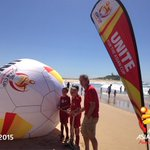 #Newcastle ambassador Mark Richards had some fun with some emerging Jets players on Nobbys Beach! #100DaysToGo http://t.co/FSDxroFSLP