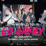 RT @enstarent: HOTTEST, R U READY TO GO CRAZY WITH 2PM??!! #2PMworldtourinJKT2014 http://t.co/kjMQwwQcVy
