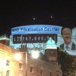 If you want @David_Cameron to hear us & stop selling the #NHS RT this message we beamed onto #CPC14 last night http://t.co/yIHDSveMKy