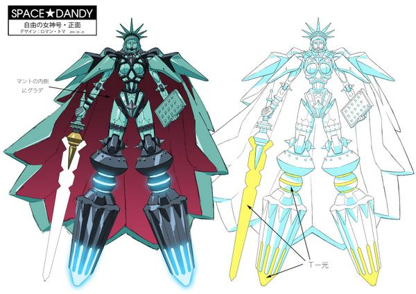 My design of The Statue of Liberty Giant Robot for Space Dan