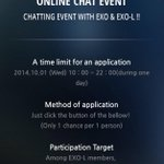 """RT @ADOREXONLY: [GUIDE] JOIN """"Chat Time with EXO"""" NOW! You only can request TODAY! Open this link now https://t.co/YBOWZHzTvX http://t.co/hiEls80xPe"""