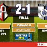 RT @record_mexico: Termina el partido. A pesar del golazo de Ronaldinho, Atlas venció 2-1 a Gallos Blancos http://t.co/2LjEY9ulg2 http://t.co/XCRYSdYd3y
