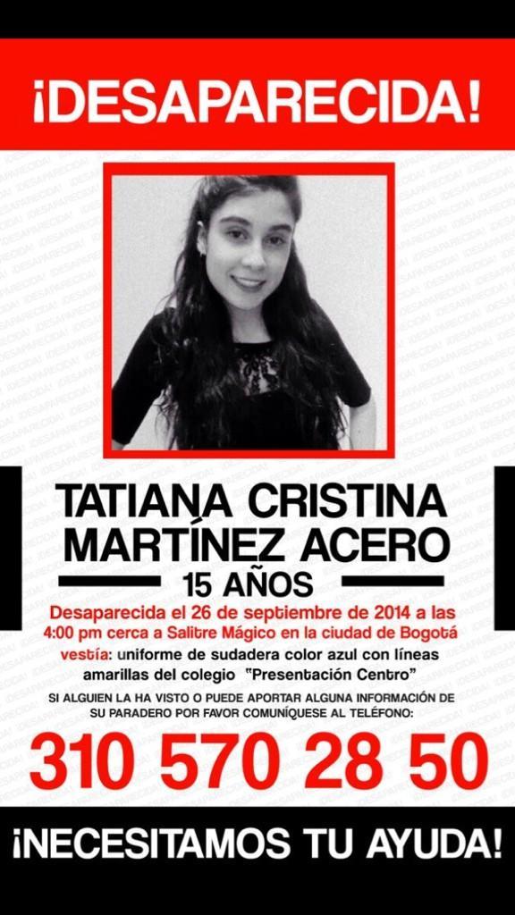 #BrigadaDigital #amigos: hija de compañera de trabajo de @Ministerio_TIC esta #desaparecida Favor RT pic #QueGracias http://t.co/nY272XJXXc