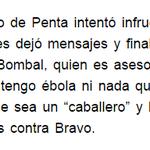 """Hugo Bravo a sus ex jefes en Penta: """"no tengo ébola ni nada que se le parezca, pero sí mucha información"""". http://t.co/ENw8BSCZHx"""