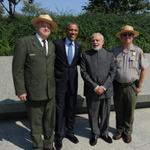 RT @MIB_India: PM Shri @narendramodi & the US President, Mr. @BarackObama at the Martin Luther King memorial, in Washington DC. http://t.co/C5v3k3Zdbb