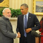 PM Shri @narendramodi with the US President Mr. @BarackObama after press statement at the White House, Washington DC. http://t.co/87s9SeDPkn