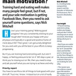Why do you train? To share selfies on Twitter? It needs to be for you alone, says @HeyNickMitchell in @IronLifeMag #5 http://t.co/RZ0eCeUnJN