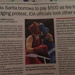 RT @sunilkapoor8: #Saritadevi borrows 500$ frm journalists to lodge protest #AsianGames http://t.co/sAMnSnRTsH