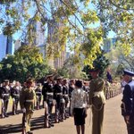Her Excellency Marie Bashir inspects the Federation Guard #nswpol http://t.co/Ev0SrEMl7e