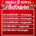 RT @Troutstanding: #Angels will be facing The Royals. Other times will be released soon. ???????????? #AngelsBaseball #AngelsNation http://t.co/olvCyVYFUW