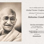 RT @vikassbaghel: #GlobalGandhi Global Twitter Conf celebrating 145th Birth Aniv of Mahatma Gandhi on Oct 2 http://t.co/9RTVEUNTdo #ideapreneurship