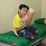 This is what a kid who lost his legs got as gift for Eid in Gaza... #PrayForGaza #EidInGaza http://t.co/f5yTvqDMLD