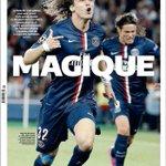 """La UNE du jour de lÉquipe : """"MAGIQUE"""". http://t.co/HQe1BkOyDX"""