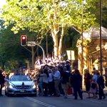 Marie Bashir leaving Macquarie St http://t.co/FrW9eB9N7L