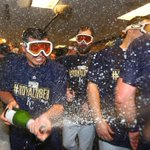 CELEBRATE! On to the ALDS. #Royals #TakeTheCrown http://t.co/4zy80ranVt