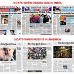 Via reddit again, Indian newspapers when Obama visited vs US newspapers when Modi visited: http://t.co/GpEj2hWF5A