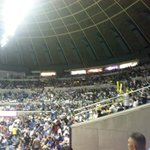 The NU crowd ahead of their do-or-die game against Ateneo. http://t.co/mLSJq5rK7T #UAAP77   via @camillenaredo
