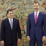 El presidente de #Honduras, @JuanOrlandoH fue recibido este día por el rey Felipe VI en Madrid http://t.co/8jB99WXJ19 http://t.co/RInqqYXsk5