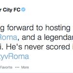 RT @guardian_sport: Francesco Totti admits Manchester City's tweet inspired him to score http://t.co/P8eXxAITk0 http://t.co/vVKTkCPHZn