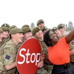 Comedienne @andiosho gets a selfie with the #ScotsGuards at todays #Stoptober launch. Wed love to see the selfie. http://t.co/cVz2Xo8mRb