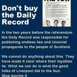 RT @stevengardner74: There has never ever been a good reason for buying this rag @Daily_Record Even less now #the45 http://t.co/joyEZwEKbf