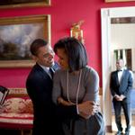 Photo: President Barack Obama hugs First Lady Michelle Obama in the Red Room of the White… http://t.co/kBrmAbJFNx http://t.co/YrLmm5NL5f